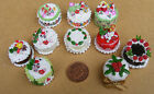 1:12 Dolls House Miniature Hand Made Christmas Cake Kitchen Shop Xmas Accessory