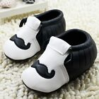 Toddler baby girls boys Black soft-soled crib shoes size 0-6  6-12 12-18 month