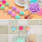 Rose Self-Adhesive Stick On Door Wall Tile Towel Hanger Holder Hook Decoration