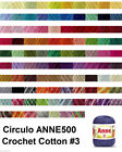 Circulo ANNE500 Crochet Soft Cotton Yarn Knitting Thread Solid #3 500m 150g