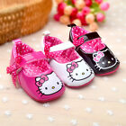 Baby Girls Princess Shoes Infant Cute Hello Kitty Footwear Toddlers soft sole