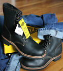 NIB Mens 6-12 Vintage Black Brown Bonanza Leather Motorcycle Welt BOOTS