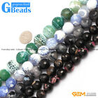 """12mm 14mm Round Faceted Gemstone Frost Agate DIY Jewelry Making Beads Strand 15"""""""