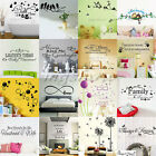 Family DIY Removable Wall Stickers Decal Art Vinyl Quotes Mural Home Room Decor