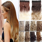 Fashion 2 Tone Ombre Hair Extensions DIP DYE Curly Clip in Hair Extensions MK