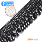 "Black Magnetic Hematite Rondelle Spacer Beads For Jewelry Making 15"" 2mm 3mm 4mm"