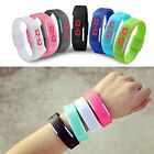 Coolest Red LED Rubber Silicone Wristwatches Men Women bracelet Digital Watch