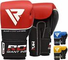 RDX Leather Gel Boxing Gloves Fight Punch Bag Muay Thai Grappling Pad Kick MMA R