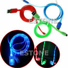 USB Micro LED Light Charge Data Sync Cable For Samsung Galaxy S4 S3 S2 HTC LG
