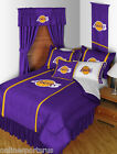Los Angeles Lakers Comforter Sham Bedskirt & Valance Twin to King Size