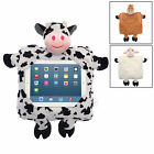 Childrens 4 to Go Farmyard Tablet iPad Case Cushion Backpack Bag Soft Toy New
