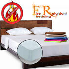Fire Retardant - FITTED SHEET - BS7-175 Crib7 in 4 Colour and 6 Sizes