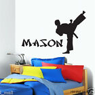 Personalised name & Karate Kid Removable Wall sticker Vinyl decal