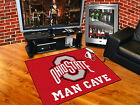 Ohio State Buckeyes Man Cave Area Rug 3 Sizes Tailgate