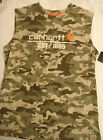 CARHARTT Kids Size M or XL Choice Camo Sleeveless Cotton Shirt NWT