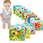 Wooden Animal Puzzle Jigsaw Early Learning Baby Kids Educational Toys+ NEW HOA C