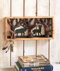 Deer Bear Forestry Hooks Branches Log Woodland Northwood Lodge Cabin Wall Decor
