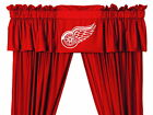 Detroit Red Wings Drapes Curtains & Valance Set with Tie Backs