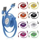Colorful Retractable USB Micro Charger Changing Data Sync Cable for Phones PC