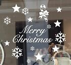 window snowflake stickers - CHRISTMAS  WINDOW WALL REMOVABLE  STICKERS DECALS SNOWFLAKE STAR CANDY CANE