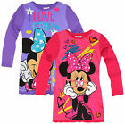 Girls Official Disney Minnie Mouse Long Sleeved Nightdress New Ages 4-10 Years