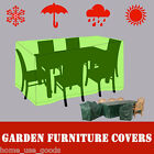 Waterproof 4-8 Seater Garden Patio Furniture Set Weather Protect Covers Green