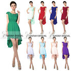 Plus Backless Hi-low Prom Evening Gown Cocktail Wedding Party Bridesmaid Dresses