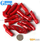 Freeform Branch Red Coral Beads Jewelry Making Gemstone Loose Beads 5 6 10 12Pcs