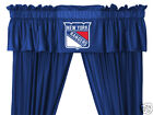 New York Rangers Drapes Curtains & Valance Set with Tie Backs