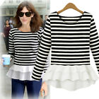 New Fashion Women's Long-sleeved Slim Chiffon Bottoming Tops Shirt Casual Blouse