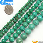"Natural Round Gemstone Old Turquoise Jewelry Making Stone Loose Beads 15""4-25mm"
