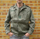 NENEW VINTAGE STYLE FRENCH ARMY SURPLUS F2 GREEN COTTON COMBAT BOMBER JACKET
