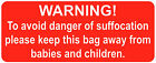 Grip Seal Bags - Warning! Danger Of Suffocation - Stickers / Red Safety Labels
