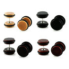 PAIR Color Organic Wood Designed O-Ring Design Fake Cheater Plugs