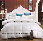 100% Cotton White Down Duvet - 550 Fill Power 233 TC Made In Canada