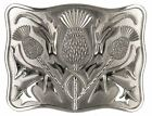 Mens New Scottish Contemporary Thistle Antique Belt Buckle with Enamel Inlays