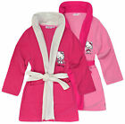 Girls Official Hello Kitty Dressing Gown New Kids Pink Bath Robes Ages 3-8 Years