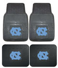 North Carolina Tar Heels Car Mats 4 Pc Front & Rear Heavy Duty Vinyl