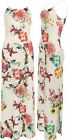 Womens Floral Strappy Sleeveless Stretch Long Bodycon Ladies Flower Maxi Dress