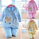 Cotton Warm Winter 2Pcs Newborn Toddler Baby Girls Boys 0-6M Outfits Set Clothes
