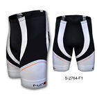 Funkier Men Cycling Bike Running Sport Shorts 8 Panel F1 Pad S-2764 Black White
