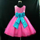 668 Hot Pink Blue Wedding Party Flower Girls Dresses AGE 2-3-4-5-6-7-8-10-12Year