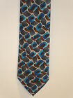 NEW $40 TAG Jerry Garcia Neck Tie Collection 59 RITUAL MOON Blue & Gray Necktie