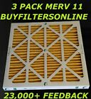 3 PACK GEOTHERMAL PLEATED AIR FILTERS HEAT PUMP MERV 11 Z-LINE ALLERGY POLLEN