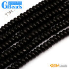 5x10mm Black Coral Gemstone Rondelle Spacer Beads For Jewelry Making Strand 15""
