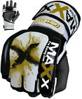 Maxx Leather Gel Tech UFC MMA Punch Bag Grappling Gloves Fight Boxing Gloves GX