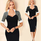 NEW VINTAGE 50'S 60'S ROCKABILLY RETRO PENCIL WIGGLE PIN UP PLUS SIZE PROM DRESS