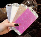 Bling Diamond Glitter Hard Case Cover for Samsung & iPhone Models Free Screen UK