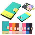 Shichimi Diary Slim Flip Leather Wallet Case Cover For iPhone Samsung Galaxy LG