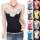 Beautiful Floral Embroidery Summer Casual Camisole Cami Tank Top